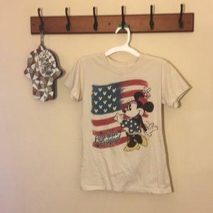 Disney Brand Girls shirt Size XS American flag